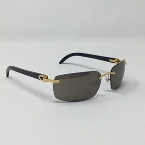 CARTIER rimless horn sunglasses